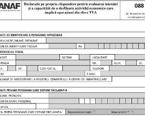 Cum trebuie depus formularul 088 la inregistrarea in scopuri de TVA