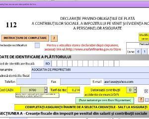 ANAF a actualizat noua varianta a programului electronic pentru intocmirea Declaratiei 112