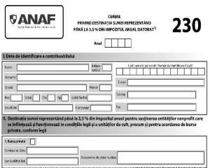 Formularul 230 in anul 2021 - noul termen de depunere si alte modificari