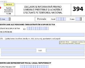 Tratament contabil pentru completarea Declaratiei 394