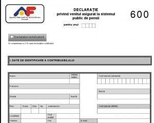 Declaratia 600: in ce situatii este obligatorie pentru PFA