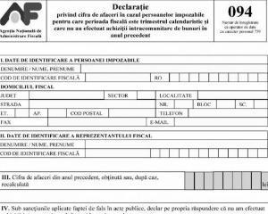 Obligatii si exceptii pentru depunerea Declaratiei D094
