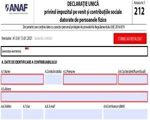 Completarea Declaratiei unice. Cum se procedeaza daca a fost incasata indemnizatia pentru PFA