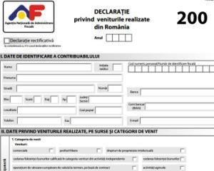 Formularele privind impozitul pe venit, CASS si venituri din strainatate au fost modificate de ANAF