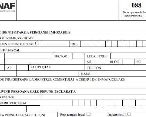 ANAF anunta simplificarea Declaratiei 088