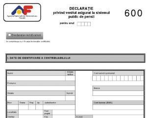 Nelamuriri privind depunerea Formularului 600 de catre PFA, explicate de ANAF