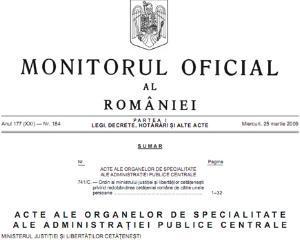 Proiect pentru accesarea gratuita si nelimitata a Monitorului Oficial